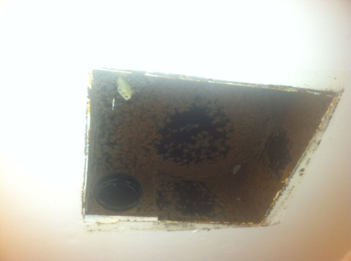 Picture of the current box in ceiling with location of vent.