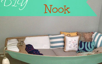 repurposed boat into reading nook, cleaning tips, painted furniture, repurposing upcycling
