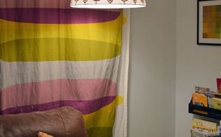 diy hand painted ikea lampshade, home decor, painted furniture, After