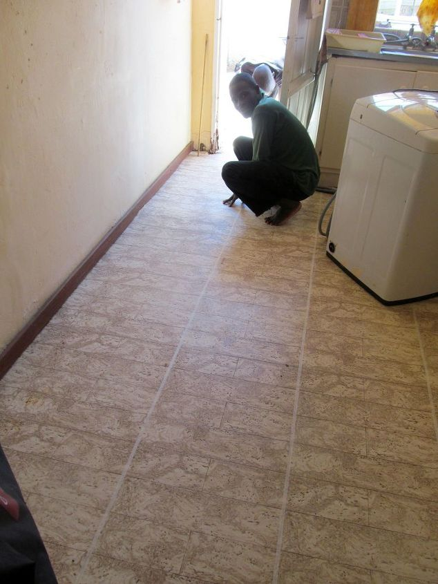 How to Paint a Tiled Kitchen Floor | Hometalk