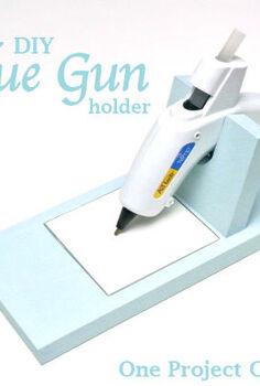 simple amp sleek glue gun holder, crafts, tools