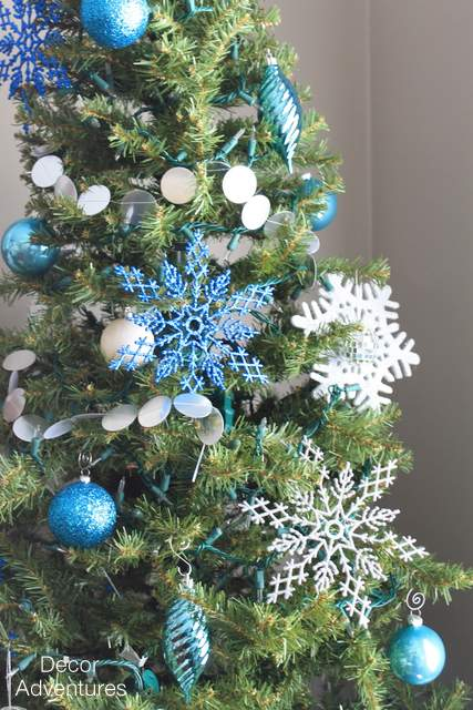 blue silver and white christmas tree christmas decorations crafts fireplaces mantels seasonal - White Christmas Tree With Blue And Silver Decorations