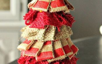 how to make a small quick cheap rustic burlap christmas tree, christmas decorations, crafts, seasonal holiday decor