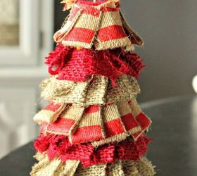 Burlap Christmas Craft Ideas Part - 44: How To Make A Small Quick Cheap Rustic Burlap Christmas Tree, Christmas  Decorations, Crafts