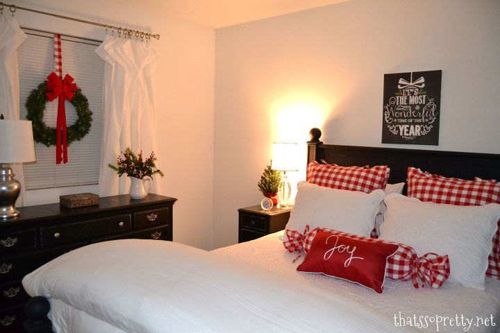 diy winter christmas bedroom, bedroom ideas, christmas decorations, crafts, seasonal holiday decor, reupholster