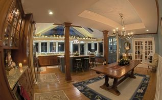 kitchen reovation, home improvement, kitchen, Panoramic View Of New Kitchen And Dinning Room