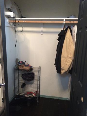 how to revamp your entry closet, closet, foyer, organizing, storage ideas, Closet before
