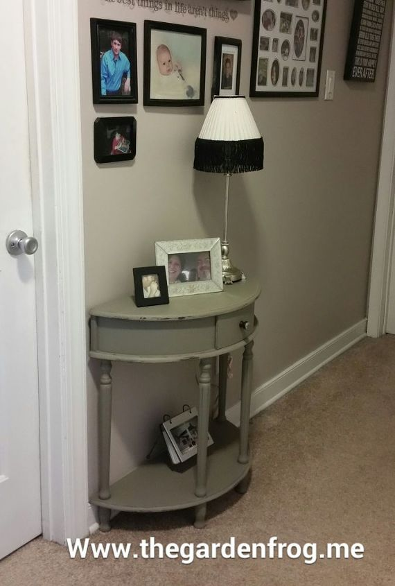 console table makeover with chalk paint, chalk paint, painted furniture
