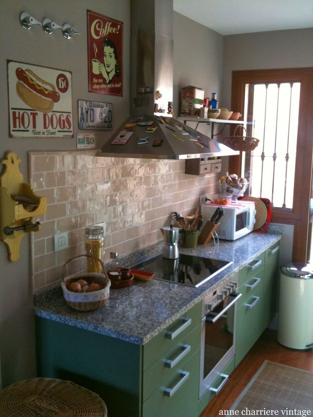 Kitchen makeover in different colors hometalk - How to change kitchen cabinet color ...