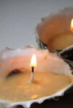 get crafty diy seashell candles, crafts