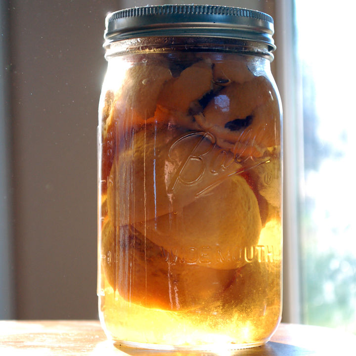 diy citrus infused vinegar cleaning solution, cleaning tips, homesteading