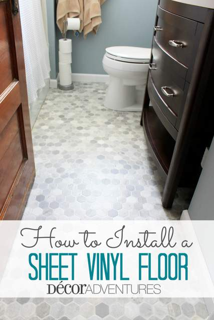 How To Install A Sheet Vinyl Floor Hometalk - Installing vinyl flooring in bathroom