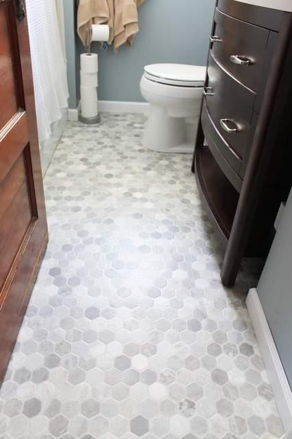 how to install a sheet vinyl floor, bathroom ideas, flooring, home improvement, how to, small bathroom ideas, tile flooring