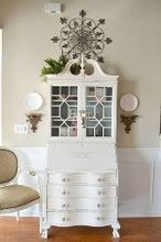 revamped great room, chalk paint, home decor, living room ideas, When we brought this piece in that I then painted Pure White chalk paint that caused a bit of rearranging
