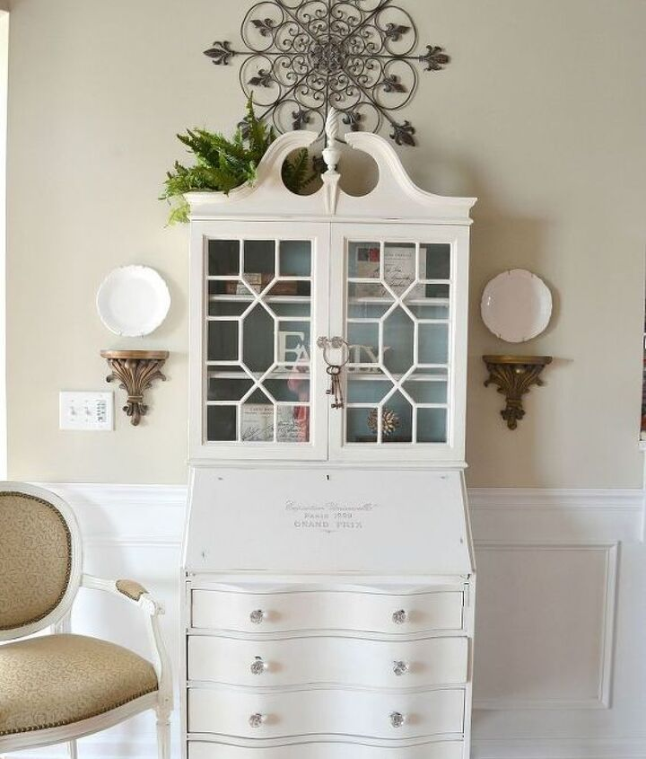 """When we brought this piece in (that I then painted """"Pure White"""" chalk paint), that caused a bit of rearranging ..."""