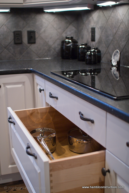 kitchen cabinet storage solutions, kitchen design, shelving ideas, storage ideas, Deep pot drawers are very convenient to access large heavy pots and pans We always advise clients to incorporate them into a new kitchen design