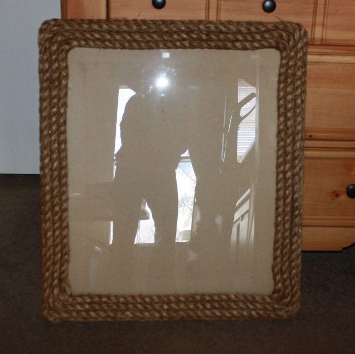 Diy Rope Frame Rustic Decor Hometalk