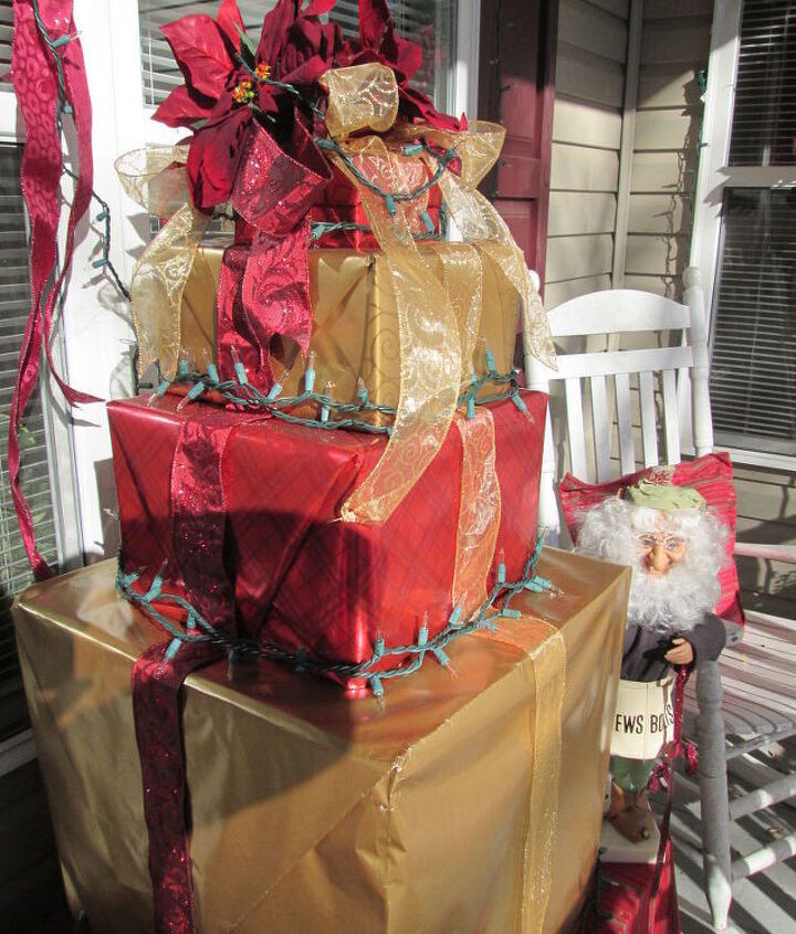 how to make a present christmas tree out of recycled boxes, christmas decorations, crafts, repurposing upcycling, seasonal holiday decor