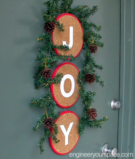 diy front door christmas decoration alternative to a wreath christmas decorations crafts seasonal - Christmas Front Door Decorations Diy