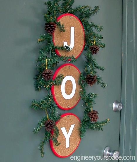 diy front door christmas decoration alternative to a wreath, christmas decorations, crafts, seasonal holiday decor, wreaths