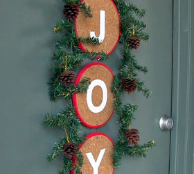 Diy Front Door Christmas Decoration Alternative To A Wreath, Christmas  Decorations, Crafts, Seasonal