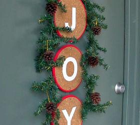 Diy Front Door Christmas Decoration Alternative To A Wreath, Christmas  Decorations, Crafts, Seasonal