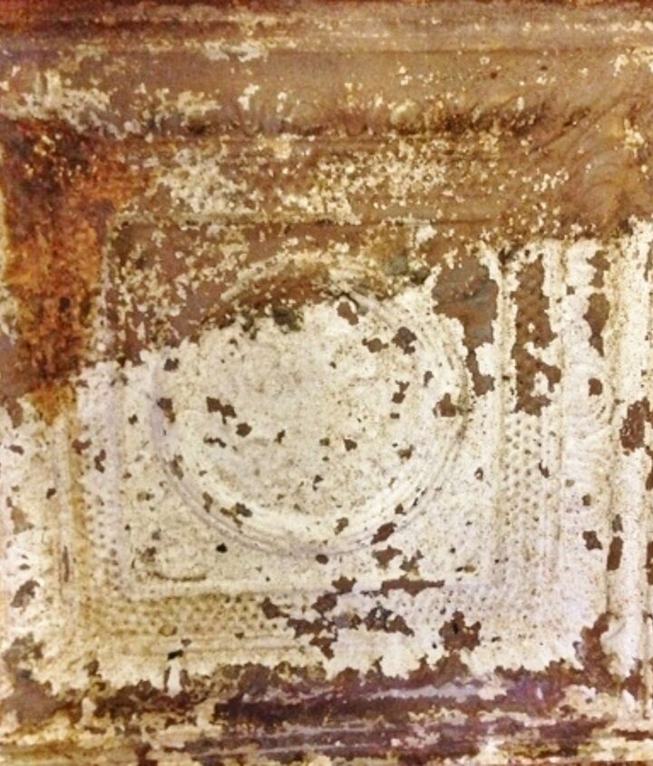 2 ft. antique ceiling tile found while out on a junking excursion.