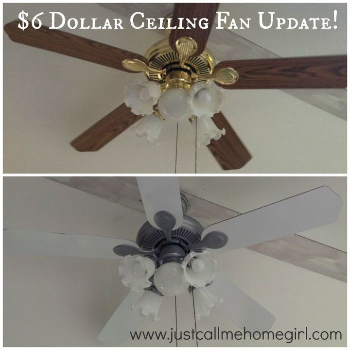 ceiling fan update, lighting, painting, wall decor