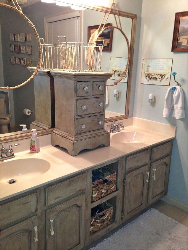 Antique Dresser Bathroom Vanity Double Sinks
