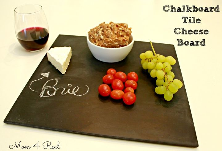 Make A Cheese Board From Ceramic Tile And Chalkboard Paint