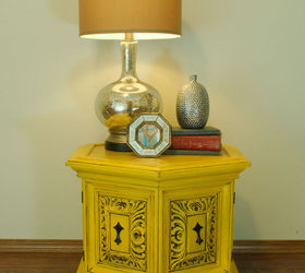 Merveilleux Yellow Chalkpainted Nightstand End Table, Chalk Paint, Painted Furniture