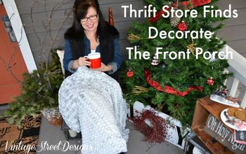Thrift Store Finds Decorate The Front Porch