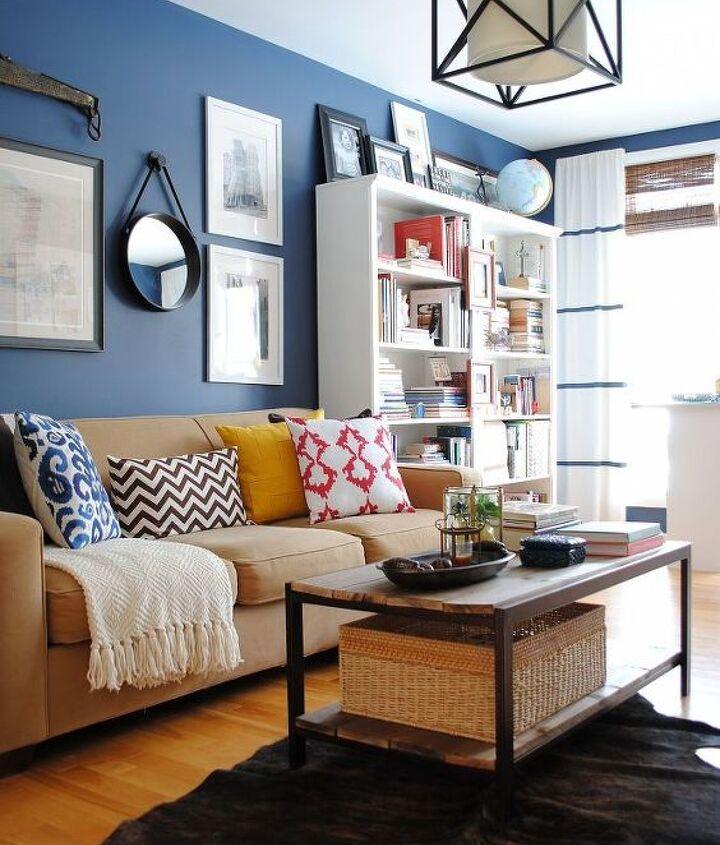 a newly designed home office family room, home decor, living room ideas