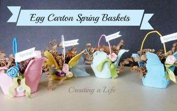 Recycled Egg Carton Mini Spring Baskets