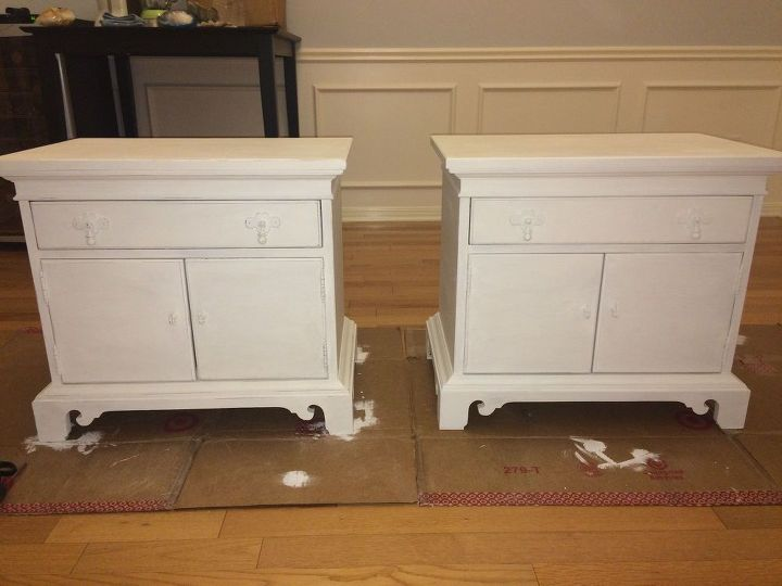 Diy Nightstand Makeover Using Annie Sloan Chalk Paint Painted Furniture LEFT