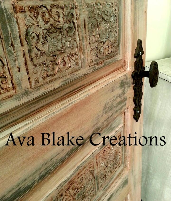 how to age a brand new door, diy, doors, how to, painted furniture, repurposing upcycling