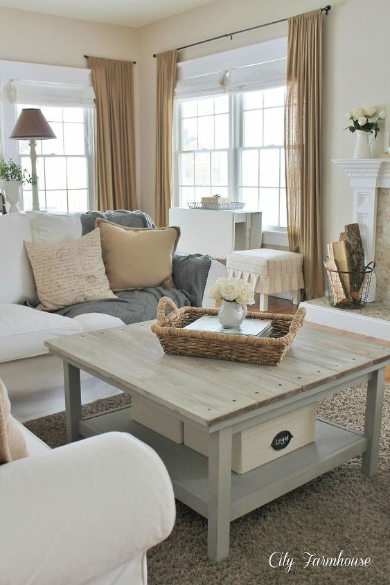 family room reveal thrifty pretty amp functional, home decor, living room ideas