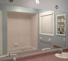 How to Make a Large Bathroom Mirror redo to double framed ...