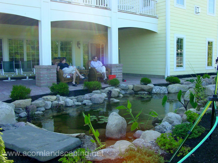 6 tips for designing and installing a water garden or fish pond, gardening, home decor, outdoor living, ponds water features, Tip 1 Location Locate your pond close to the house so that it can be enjoyed from both inside and outside the home