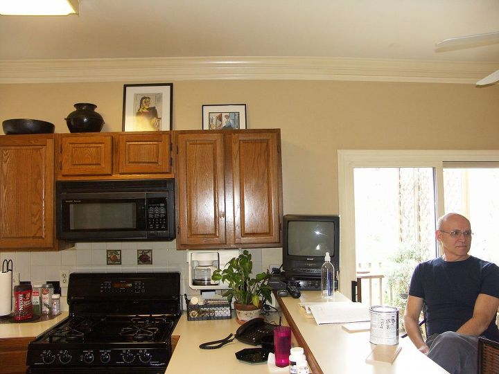 "The ""OLD"" Kitchen (Note Where The Sliding Glass Door Is - Now It's The Window Seat!!)"