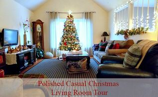 polished casual christmas living room, christmas decorations, crafts, fireplaces mantels, living room ideas, mason jars, repurposing upcycling, seasonal holiday decor