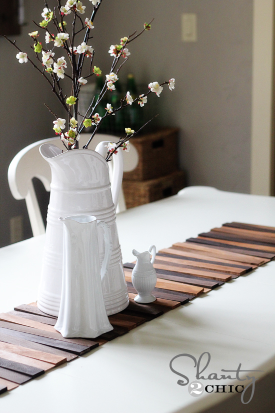 Diy Wood Shim Table Runner For Under 8 Crafts Home Decor Repurposing Upcycling