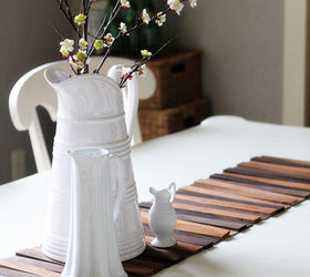 Perfect Diy Wood Shim Table Runner For Under 8, Crafts, Home Decor, Repurposing  Upcycling