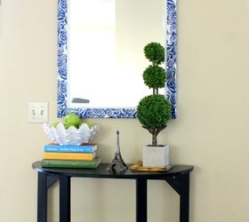 Great Unusual Mirror Makeover, Crafts, Decoupage, Home Decor, I Love My New Mirror