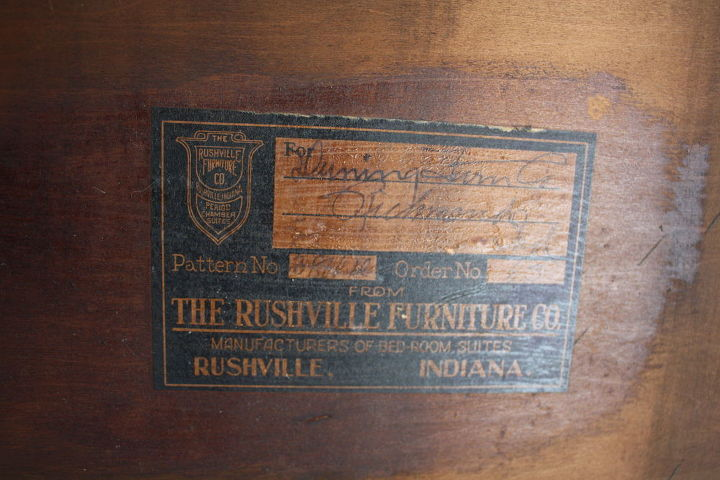 Manufactured by The Rushville Furniture Co.