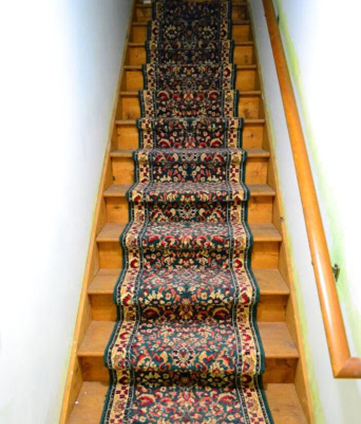 old carpet runner before