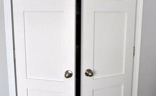 updating builder grade closet doors, closet, doors, Updated Closet Doors