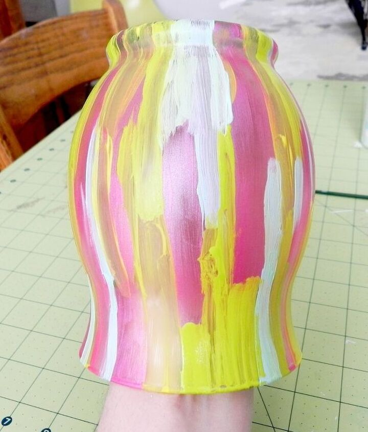 Martha Stewart Frost Etching Medium is the key to a smooth look.  http://www.madincrafts.com/2013/02/fashion-designer-inspired-spring-vase.html
