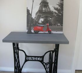 Singer Sewing Machine Cabinet Makeover To Hall Table, Kitchen Cabinets,  Kitchen Design, Painted