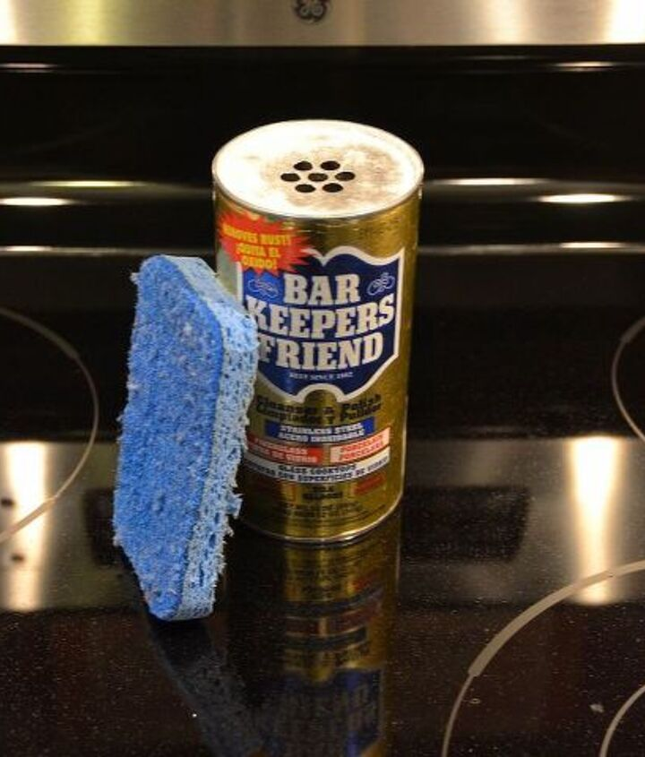 My secret weapon...bar keepers friend and a scrubber sponge.